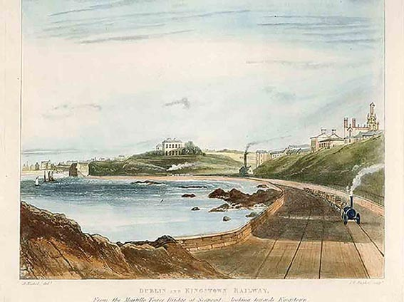 The Dublin and Kingstown Railway at Monkstown, 1834