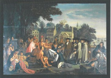 William Penn signing the Peace Treaty with Native Americans