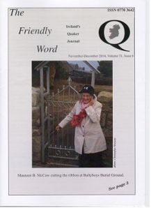 Quaker Bi-Monthly publication November - December 2014 issue