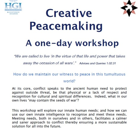Creative Peacemaking Workshop