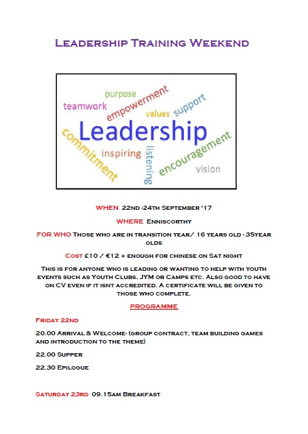 Leadership training page 1