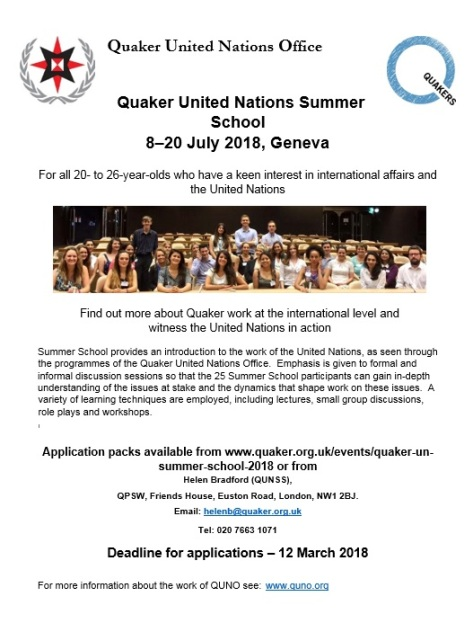 QUN Summer School 2018